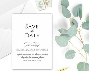CARA Save the Date Cards - DIY Printable Template