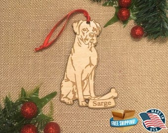 Boxer Christmas Ornament *** Personalized Dog Ornament  ***Dog Lover Gift *** Christmas Holiday Ornament ***