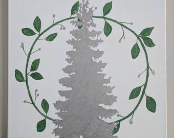 Holiday/winter wall decor (HANDPAINTED)