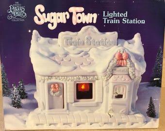 Precious Moments Sugar Town Lighted Train Station