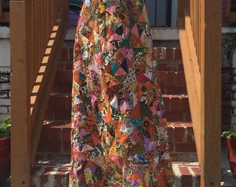 Seventies Patterned Maxi Skirt