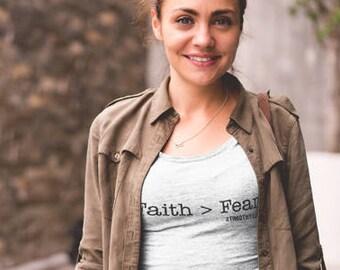 Faith vs Fear, Faith Over Everything, Christian T-shirt, Christian Shirt, Christian Tee, Church Shirt, Religious Shirt, Faith Apparel