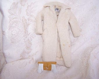 Vintage Barbie Peachy Fleecy Coat Ensemble