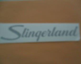 Slingerland (Drums) Vinyl Sticker in Black