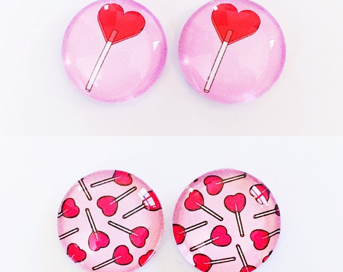 The 'Lollypop Lady' Glass Earring Studs