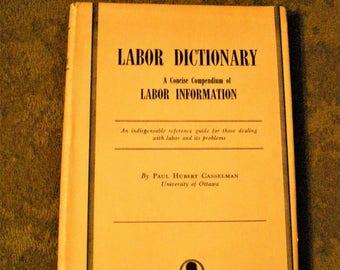 Labor Dictionary 1949 University of Ottawa