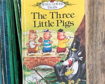 The Three Little Pigs, Vintage Childrens book, 1980's, classic story.