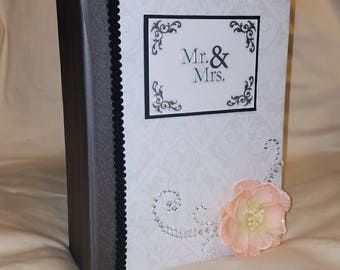 wedding photo album, scrapbook, wedding scrapbook wedding mini album, photo album, wedding mini album, wedding gift, premade mini album