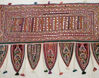 Toran Decor: vintage Ahir tribe's Valence, Door topper, Toran, Traditional Temple decor, window decor, Van/ Bus decor