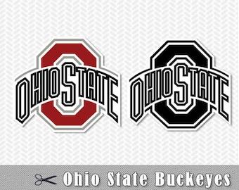 Ohio State Buckeyes Logo Layered SVG Vector Cut File Silhouette Studio Cameo Cricut Design Template Stencil Vinyl Decal Heat Transfer Iron