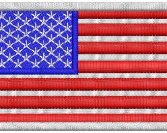 Custom patches usa flag sew on  applique name personalized patch embroidered wholesale