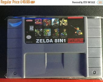 Sale on NOW Snes super nes  8 in 1 rpg multi cart zelda games english Case cart fan made game hand made