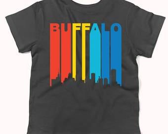 Retro 1970's Style Buffalo New York Cityscape Downtown Skyline Infant / Toddler T-Shirt