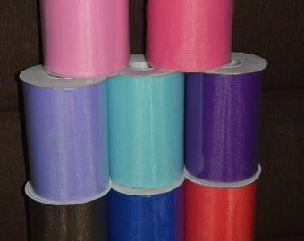 "9 rolls of 100 yards x 6"" Tulle Fabric"