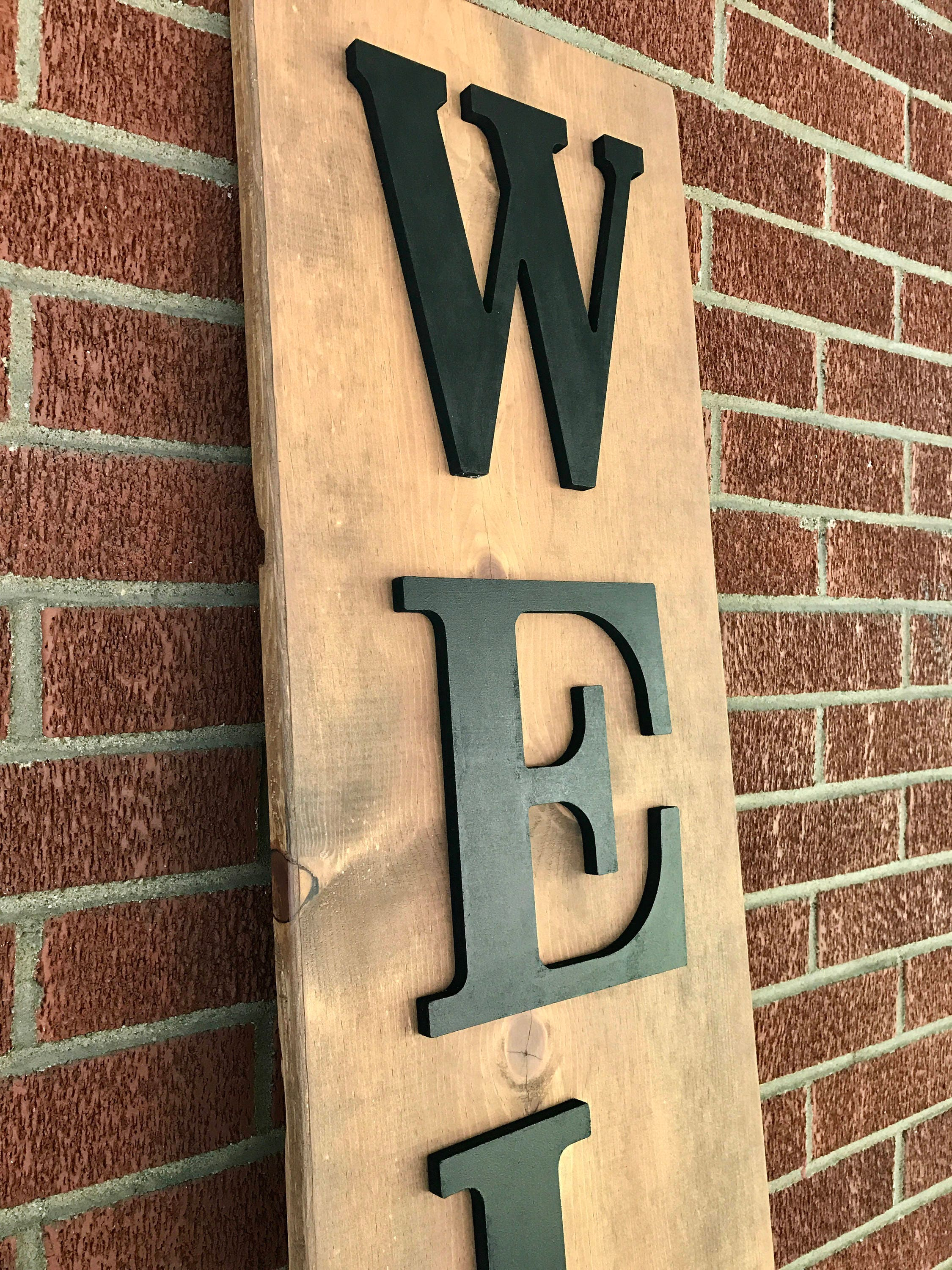 Wooden Letters Home Decor Wooden Welcome Sign Front Porch Farmhouse Outdoor Tall