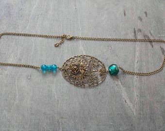"Headband - ""Blue"" jewel of head"