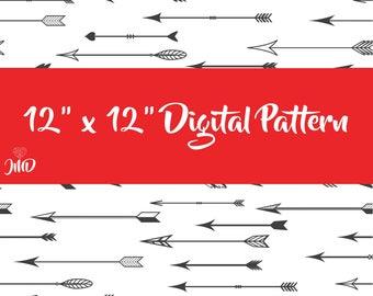 """12""""x12"""" Arrows Digital Pattern"""