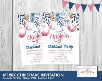 CHRISTMAS INVITATION, Christmas Party Invitation, Digital Christmas Invitation, Holiday Party Invitation, Christmas Invite, Printable invite