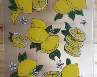 Glass Lemon Cutting Board // Vintage Cutting Board // 1980's