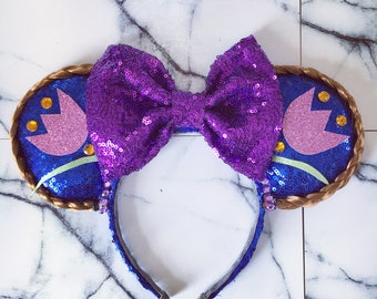 Anna blue and purple sequins