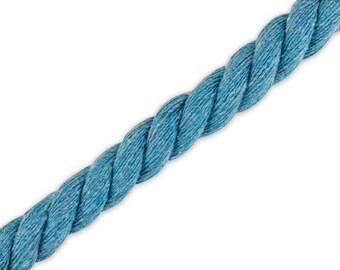 1 m cotton cord jeans blue 10 mm