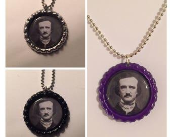 Edgar Allan Poe Bottle Cap Pendant