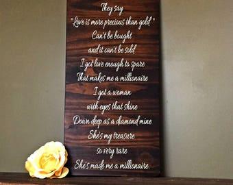 Stapleton lyrics etsy millionaire lyrics chris stapleton quote music room art gift for her country stopboris Image collections