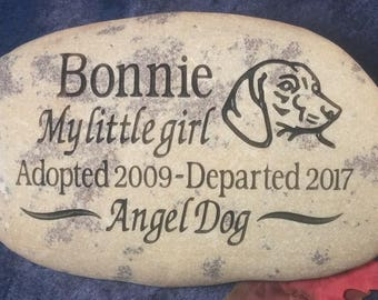 Custom Engraved Dachshund(Doxie) Pet Memorial Rocks/Stones