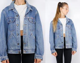 Oversize Jean Jacket / Blue Denim Jacket / Blue Jean Jacket  Vintage Denim Jacket / Vintage Jean Jacket / 90s Denim Jacket / 90s Jean Jacket