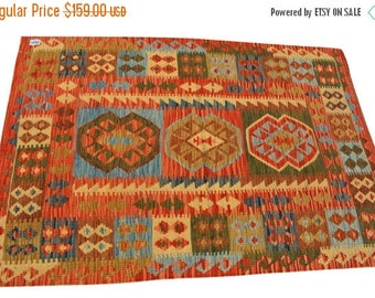 35% OFF Final sale Afghan tribal Chobi kilim / Traditional kilim