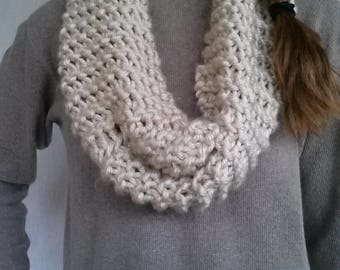 Hand Knitted Chunky Infinty Scarf