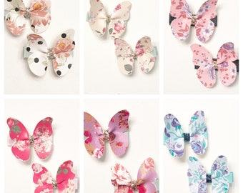 Butterfly Clip, Floral butterfly clip, floral clip