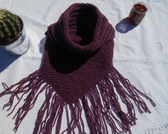 collar with purple fringe