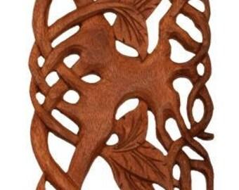 WINDALF Wall Wood Decoration ~ LIVING TREE ~ h: 70 cm - Handmade Wood (Ws187)