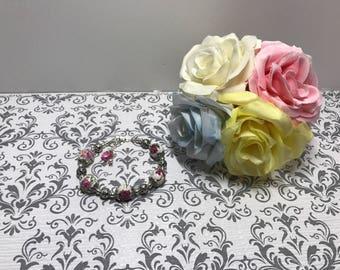 Porcelain rose bracelet