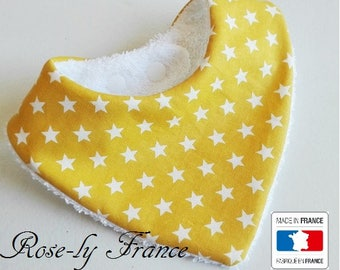 Bandana bib star mustard white