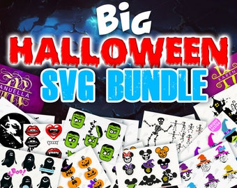 SVG HALLOWEEN SVG Bundle Halloween Bundle svg Halloween svg Halloween bundle monogram svg files halloween cut files Cricut Silhouette 286
