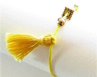 Waxed cotton bracelet 17508