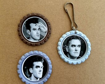 Morrissey keychain and magnet set
