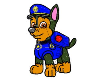 Embroidery File, 5x7 Embroidery, Paw Patrol, Digital File, Embroidery Pattern, Machine Embroidery, Choose Your Format, Choose Your Size