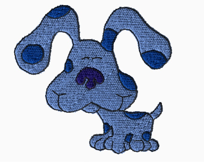 Featured listing image: 5x7 Embroidery File: Blues Clues, Choose Your Size and Format