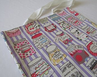 Quirky Sweet Jars Tote Shopper Bag