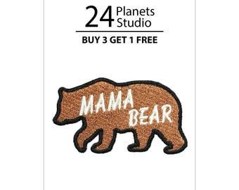 Mama Bear Iron on Patch by 24PlanetsStudio