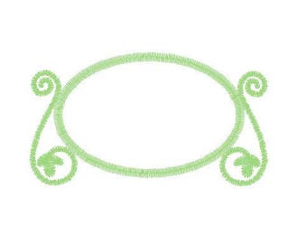 Instant Download - Machine Embroidery Pattern Designs File - Oval Picture Frame Design - Fits 4x4 Hoop - MULTIPLE FORMATS