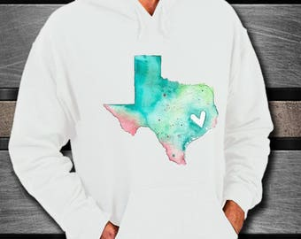 TEXAS NATIVE TEXAN White Unisex Hoodie A Warm Soft Gift for the Texan or Texas Lover in Your Life Perfect Christmas Gift Texas Strong