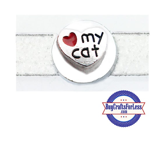 LOVE My CAT for Slider Bracelets, Collars, Key Rings +FREE Shipping & Discounts*