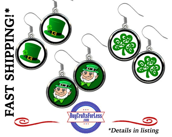 St PATRiCK's DAY EARRINGS, CHooSE Handmade Design - Super FUN & BeST SeLLER!  +FReE SHiPPiNG and Discounts*