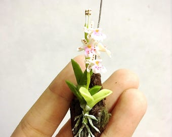 Miniature Orchid Flower | Miniature Flower | Orchid Flower | White Orchid Flower | Dollhouse Flower | Miniature Garden