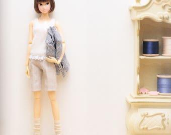 Momoko Doll E Pattern Japanese PDF Short Trousers \ Short Pants