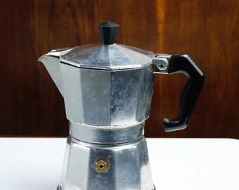 Italian coffee maker Vintage Moka Espresso Coffee Maker 3 cups Made in Italy